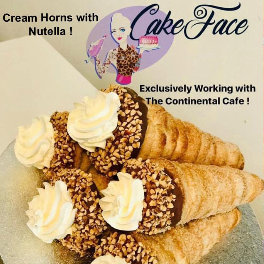 Cream Horns with Nutella