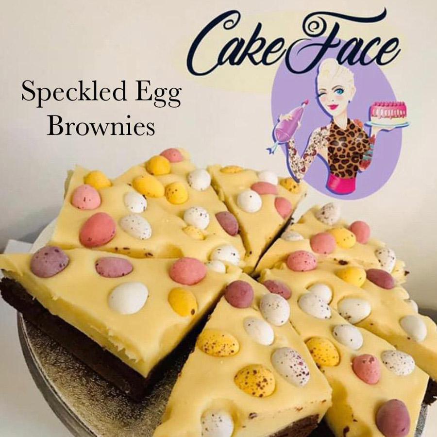 Speckled Egg Brownies
